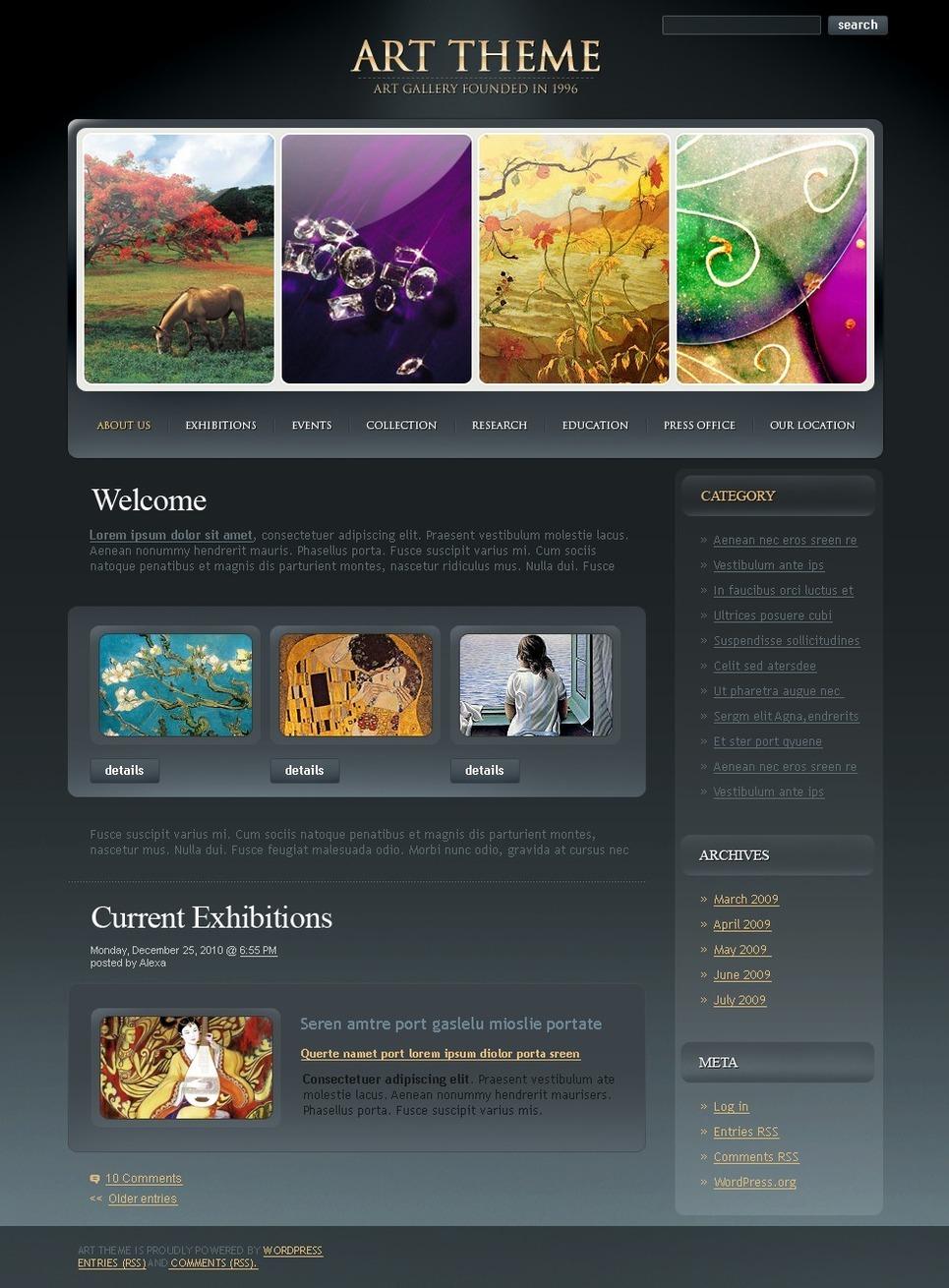 Art Gallery PSD Template New Screenshots BIG