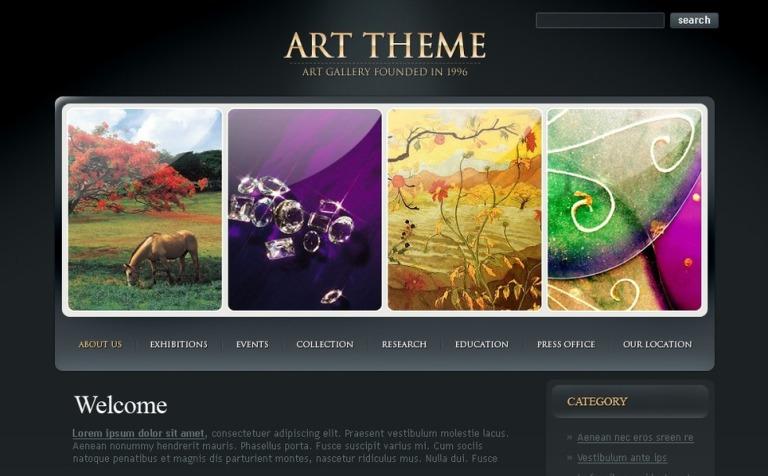 Art Gallery PSD Template #49961
