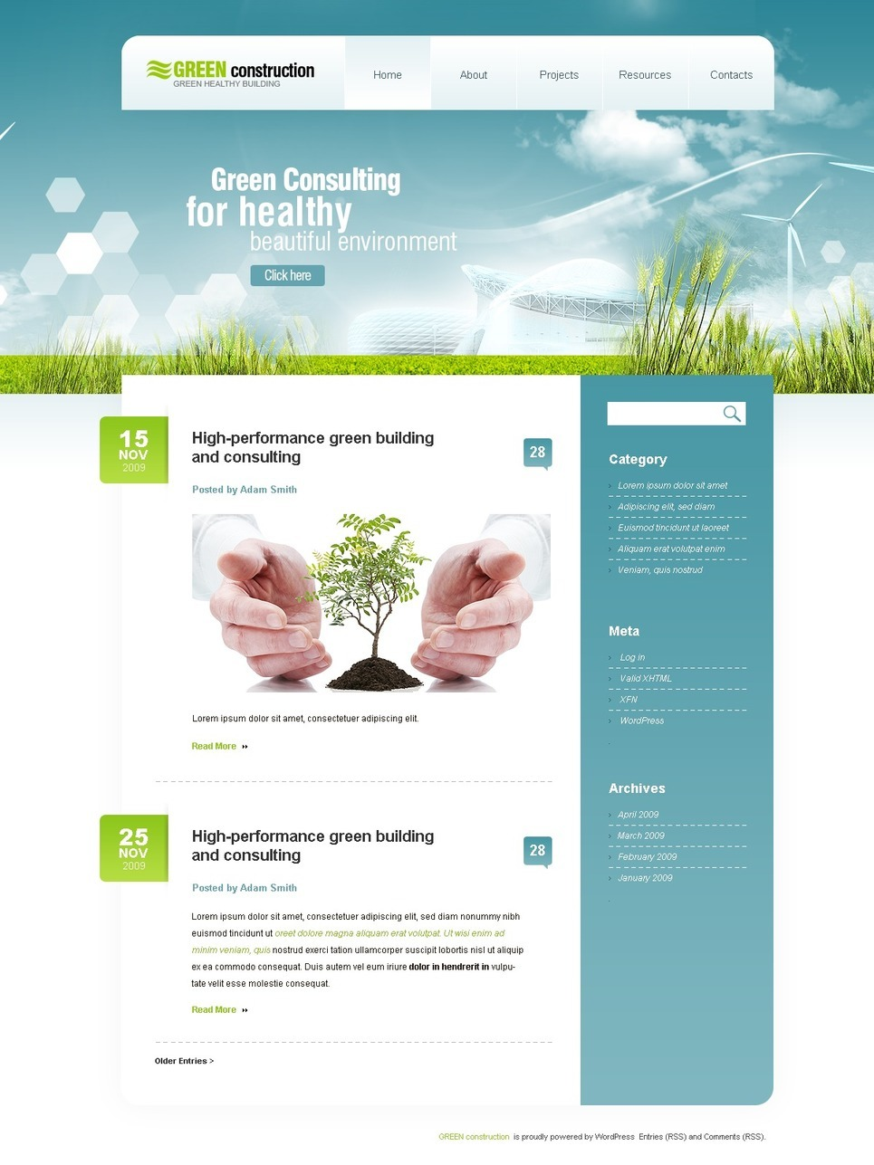 Construction Company PSD Template New Screenshots BIG