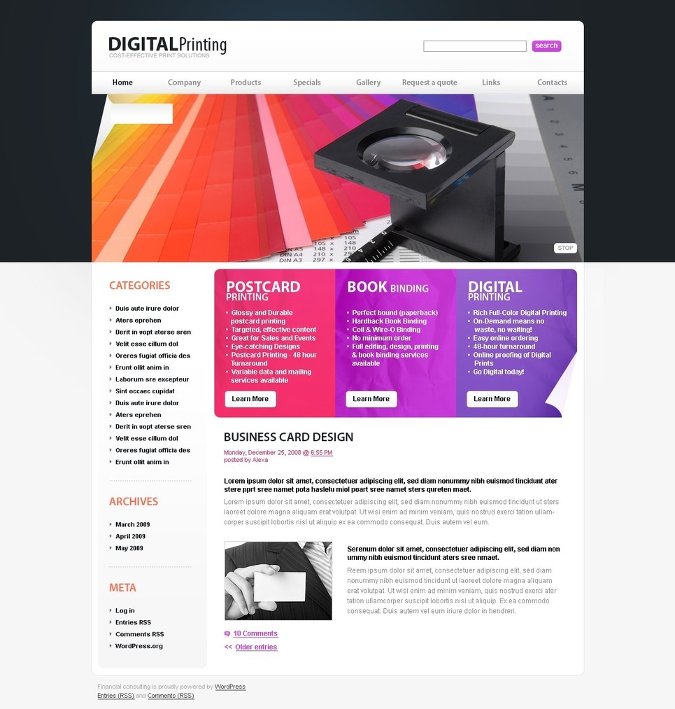 Print Shop PSD Template New Screenshots BIG