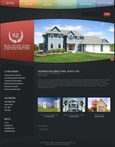 PSD шаблон №49911 на тему агентство недвижимости