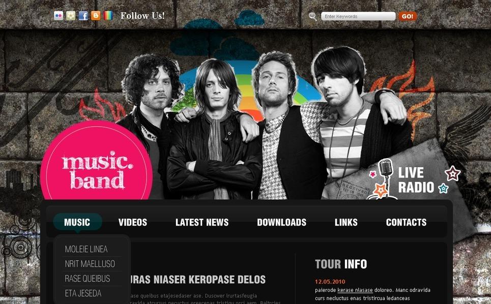 PSD шаблон №49975 на тему музыкальная группа New Screenshots BIG