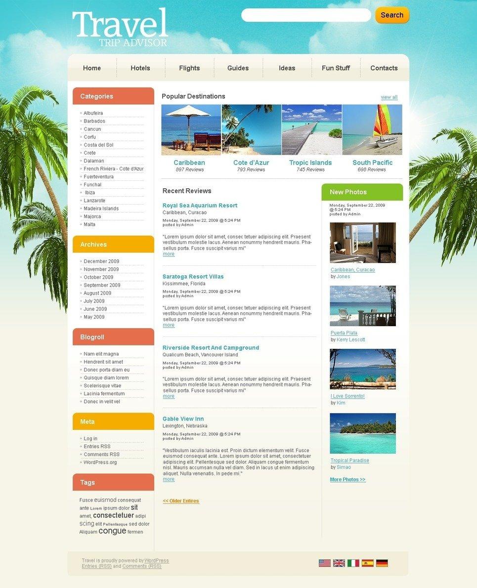 Travel Guide PSD Template New Screenshots BIG