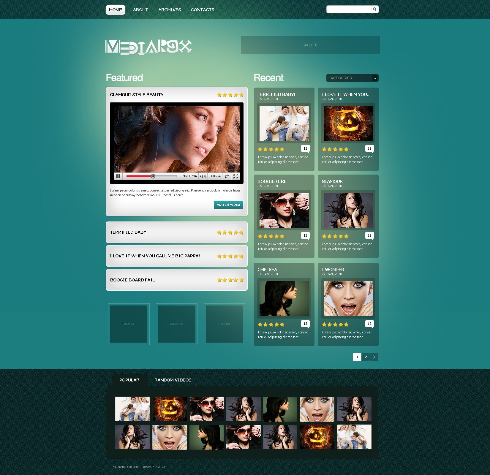 Video gallery psd template 49968 video gallery psd template pronofoot35fo Choice Image
