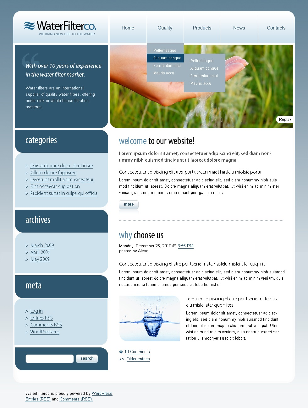 Water PSD Template