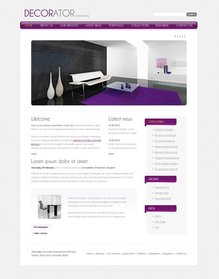ADOBE Photoshop Template 50000 Home Page Screenshot