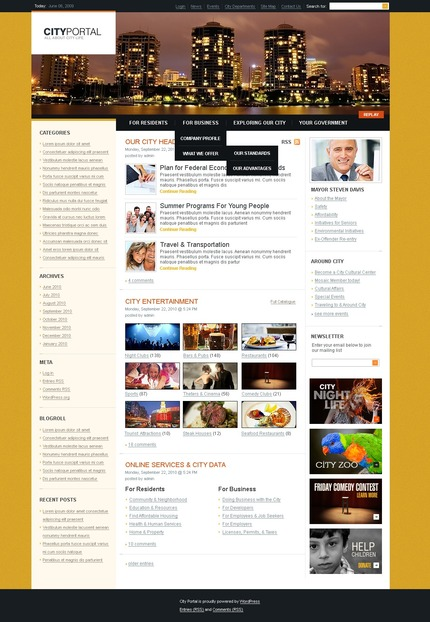 ADOBE Photoshop Template 50003 Home Page Screenshot