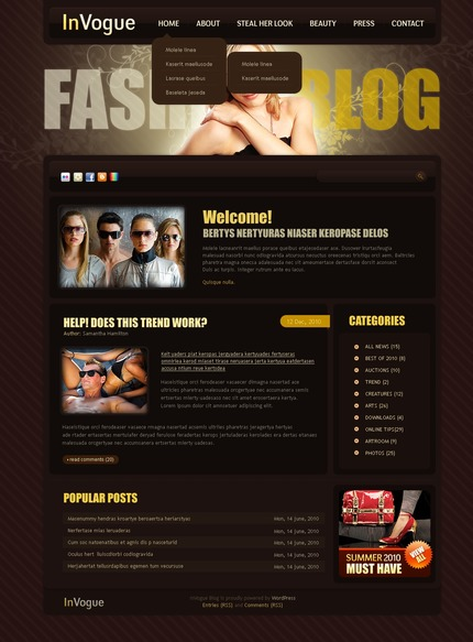 ADOBE Photoshop Template 50004 Home Page Screenshot
