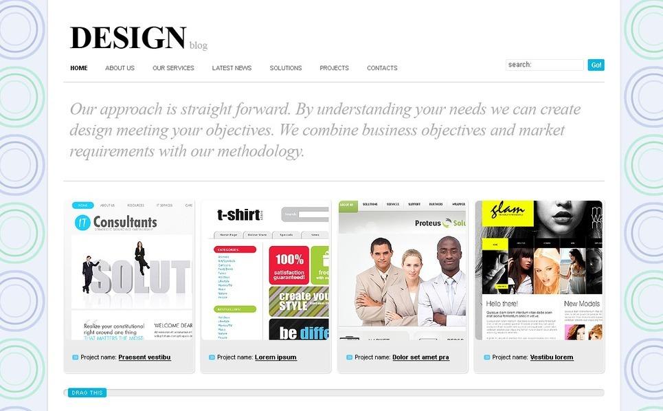 Szablon PSD #50005 na temat: web design New Screenshots BIG