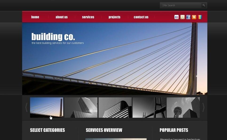 PSD шаблон №50006 на тему строительные компании New Screenshots BIG