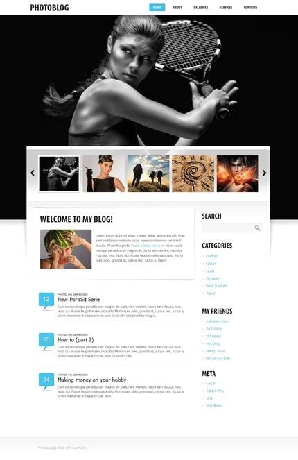 ADOBE Photoshop Template 50007 Home Page Screenshot
