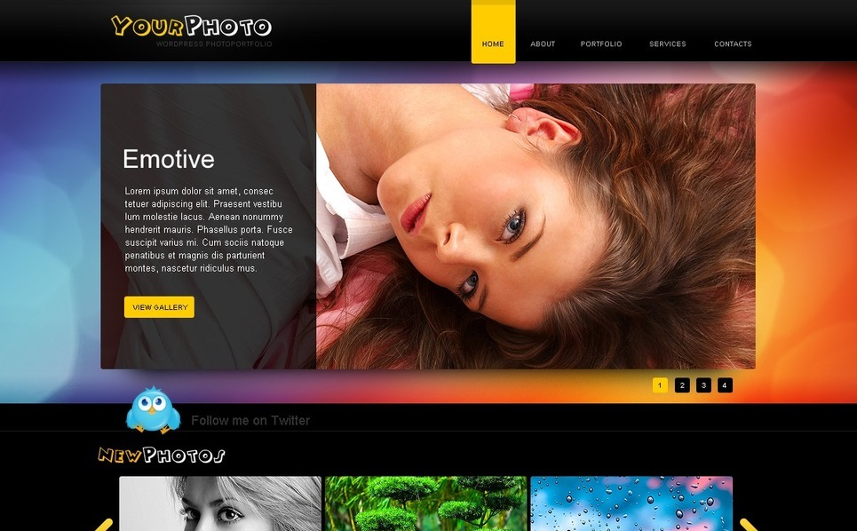 PSD Template over Fotograaf Portfolio New Screenshots BIG