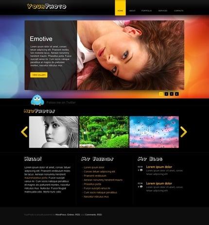 ADOBE Photoshop Template 50008 Home Page Screenshot
