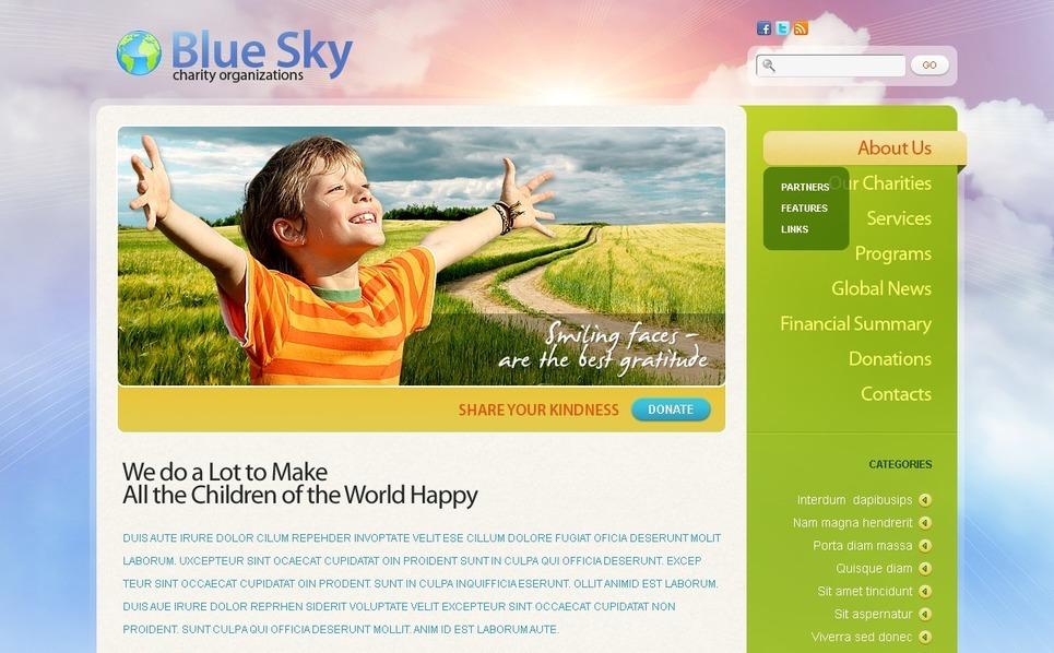 Szablon PSD #50009 na temat: dobroczynność New Screenshots BIG