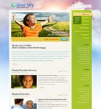 Charity PSD  Template 50009