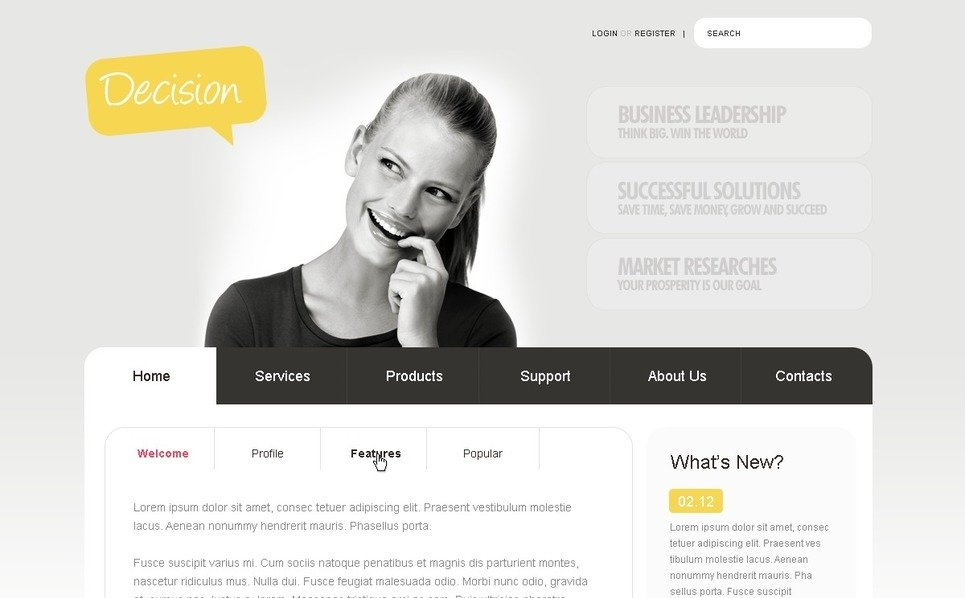 Plantilla PSD #50010 para Sitio de Negocio y Servicios New Screenshots BIG