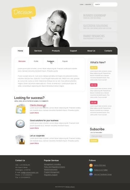 ADOBE Photoshop Template 50010 Home Page Screenshot
