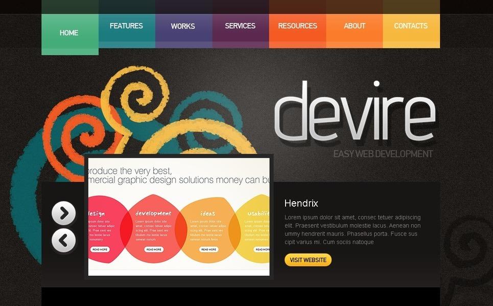 PSD Vorlage für Web Entwicklung  New Screenshots BIG