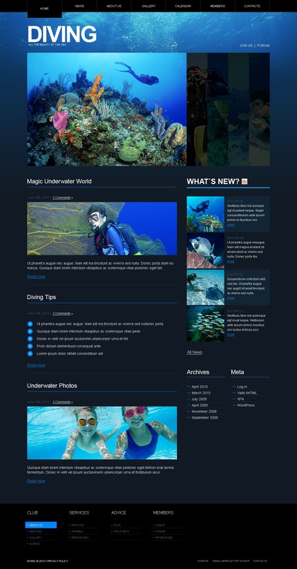 ADOBE Photoshop Template 50014 Home Page Screenshot