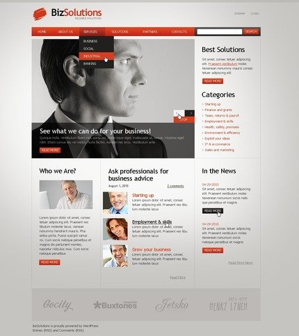 ADOBE Photoshop Template 50015 Home Page Screenshot