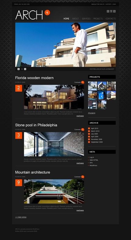 ADOBE Photoshop Template 50019 Home Page Screenshot