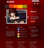 Web design PSD  Template 50022