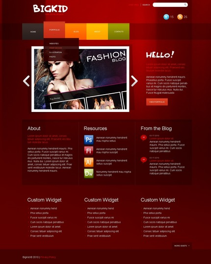 ADOBE Photoshop Template 50022 Home Page Screenshot