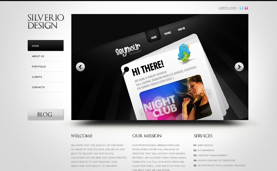 Szablon PSD #50023 na temat: web design New Screenshots BIG