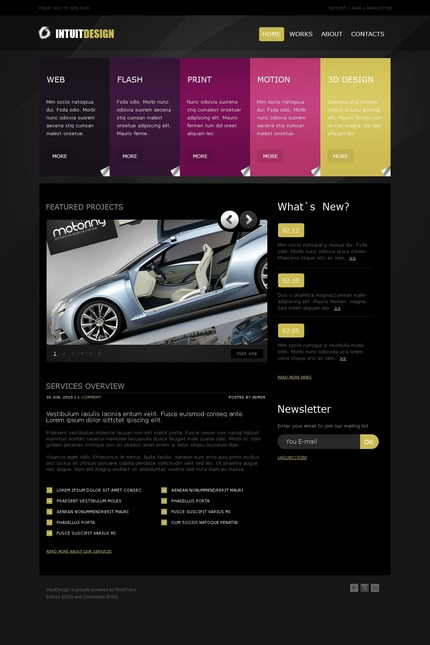 ADOBE Photoshop Template 50028 Home Page Screenshot
