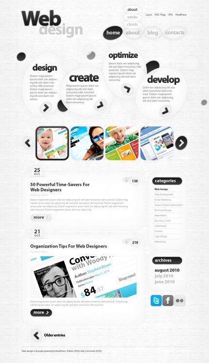 ADOBE Photoshop Template 50030 Home Page Screenshot