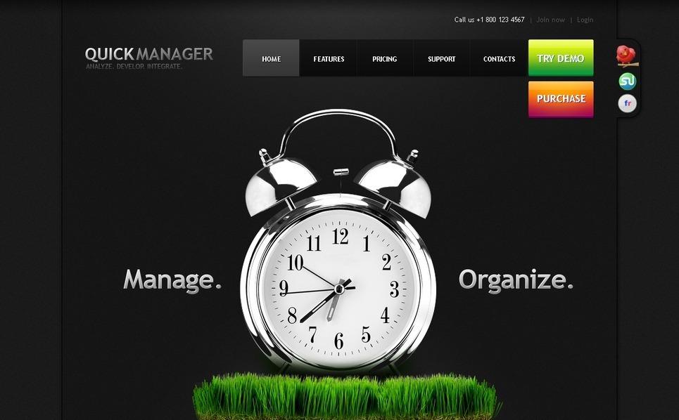 PSD шаблон на тему менеджмент New Screenshots BIG