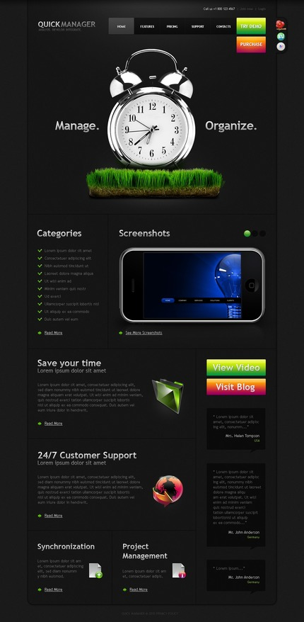ADOBE Photoshop Template 50031 Home Page Screenshot