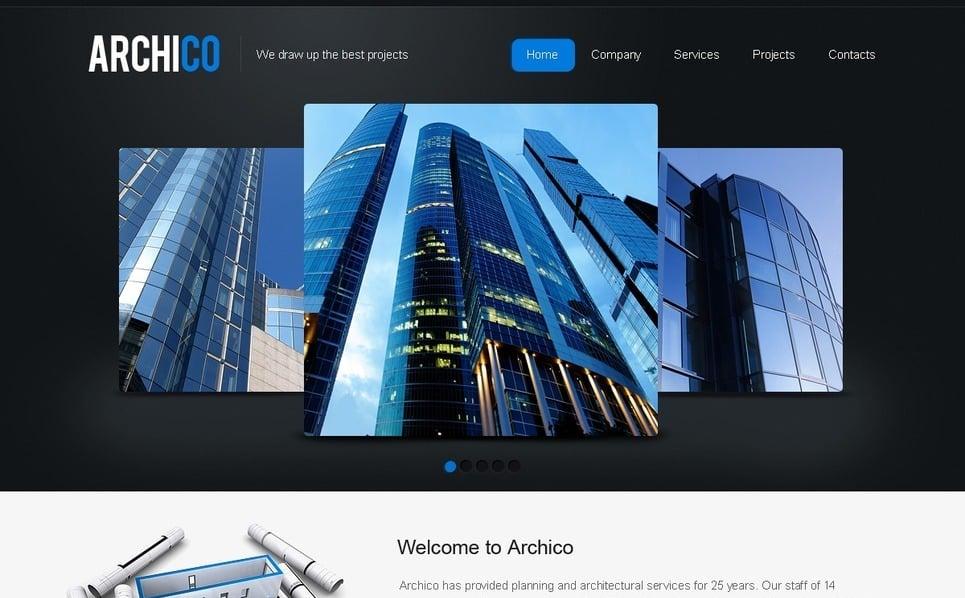 Plantilla PSD #50032 para Sitio de Arquitectura New Screenshots BIG