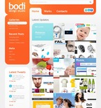 Web design PSD  Template 50033