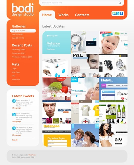 ADOBE Photoshop Template 50033 Home Page Screenshot