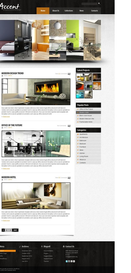 ADOBE Photoshop Template 50034 Home Page Screenshot