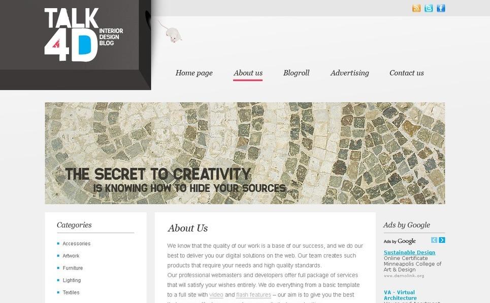 Szablon PSD #50035 na temat: wyposażenie wnętrz New Screenshots BIG