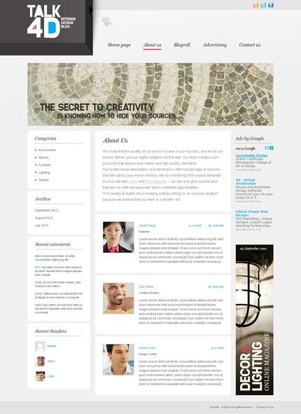 ADOBE Photoshop Template 50035 Home Page Screenshot