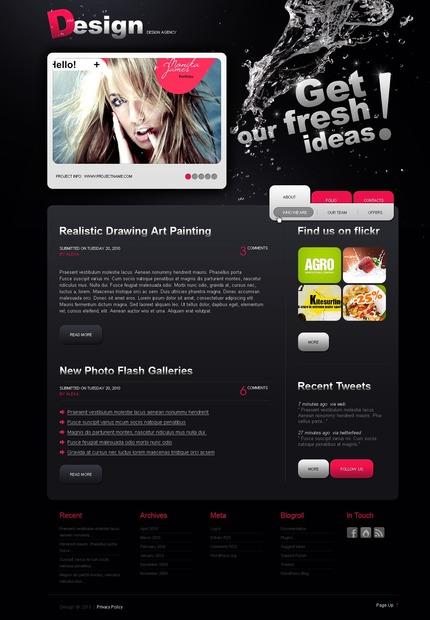 ADOBE Photoshop Template 50036 Home Page Screenshot