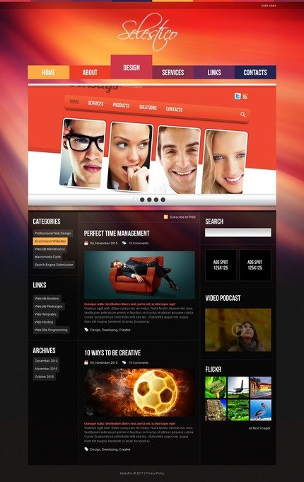 ADOBE Photoshop Template 50038 Home Page Screenshot
