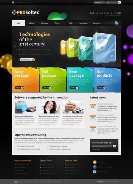 ADOBE Photoshop Template 50042 Home Page Screenshot