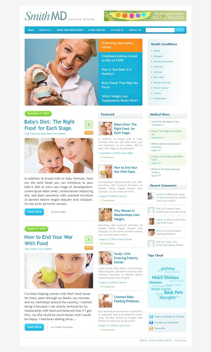 ADOBE Photoshop Template 50043 Home Page Screenshot