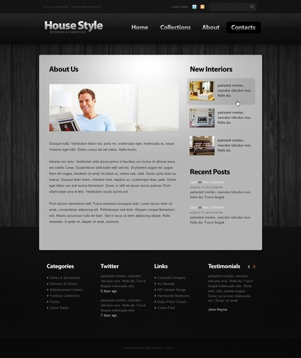 ADOBE Photoshop Template 50044 Home Page Screenshot