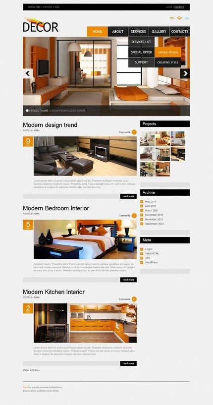 ADOBE Photoshop Template 50046 Home Page Screenshot