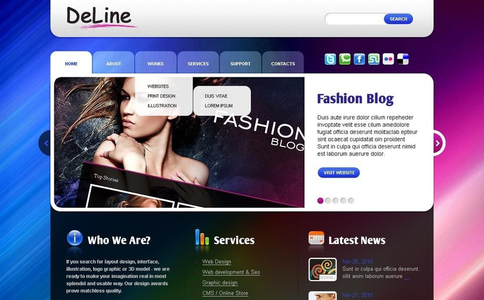 Plantilla PSD #50048 para Sitio de Diseño Web New Screenshots BIG
