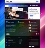 Web design PSD  Template 50048