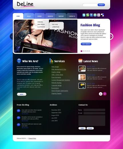 ADOBE Photoshop Template 50048 Home Page Screenshot