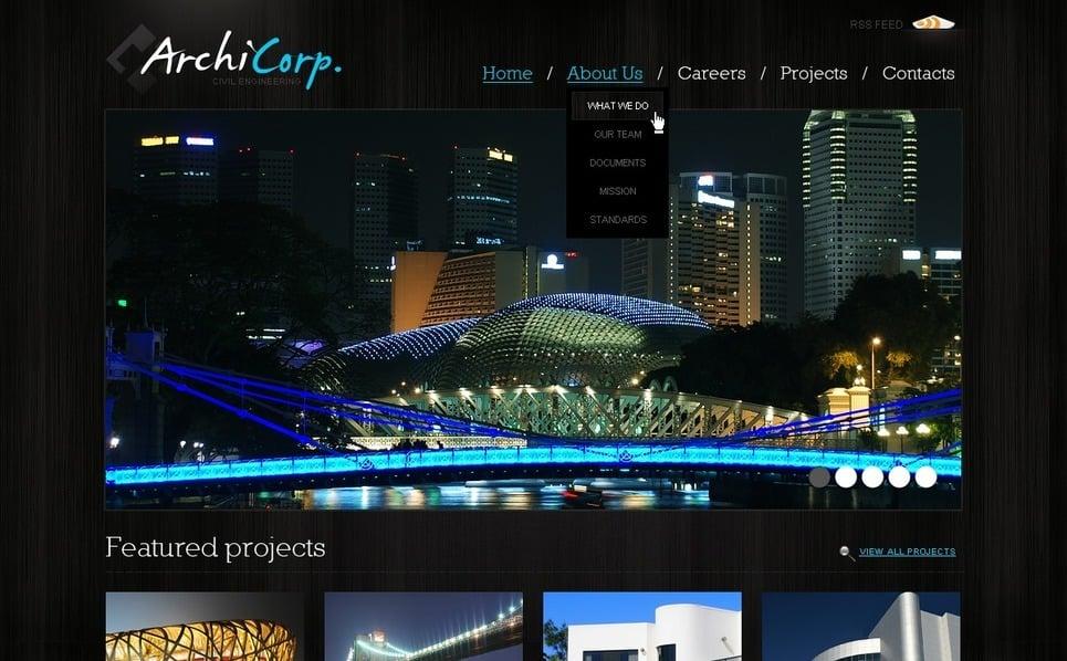 PSD шаблон №50051 на тему архитектура New Screenshots BIG