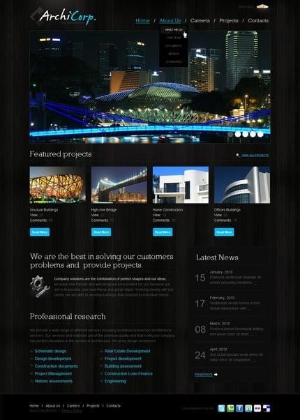 PSD макет сайта №50051