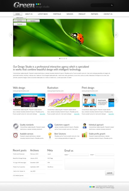 ADOBE Photoshop Template 50052 Home Page Screenshot
